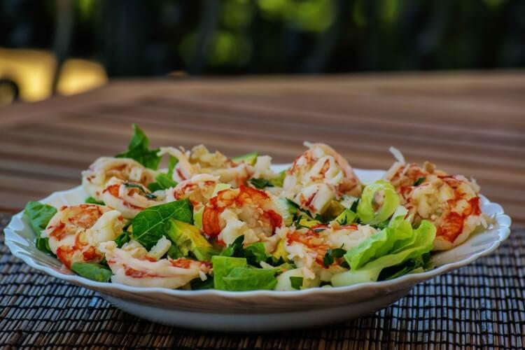 Mediteranska hrana skampi