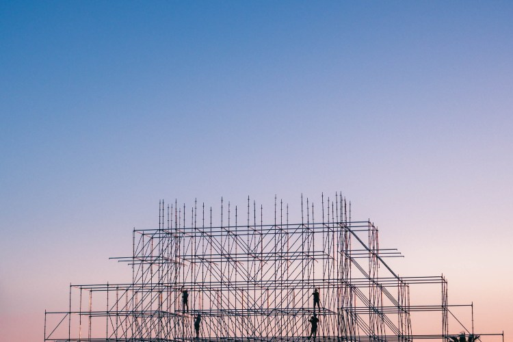 Metalna konstrukcija za izgradnju zgrade